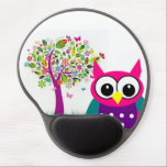 "Cute Owl Gel Mousepad<br><div class=""desc"">I just like this combo.  What can I say.  I&#39;ve been doing this for hours and my head might explode.</div>"