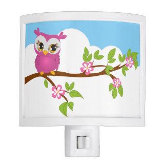 Pink Owl Night Lights Zazzle