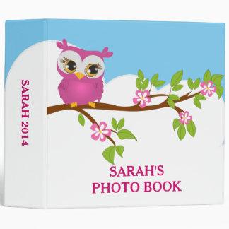 Cute Owl Girl on a Branch Photo Album Binder