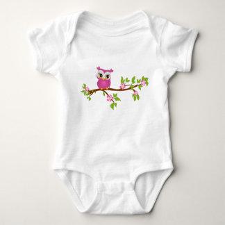Cute Owl Girl on a Branch T-shirt