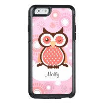 Cute Owl Girls Monogram OtterBox iPhone 6/6s Case