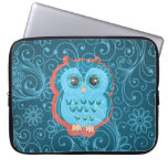 Cute Owl Girly Retro Floral Fashion Laptop Sleeves