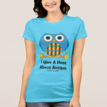 Cute Owl Give A Hoot About Autism T-Shirt