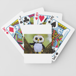 Cute Owl Glitter Bicycle Playing Cards