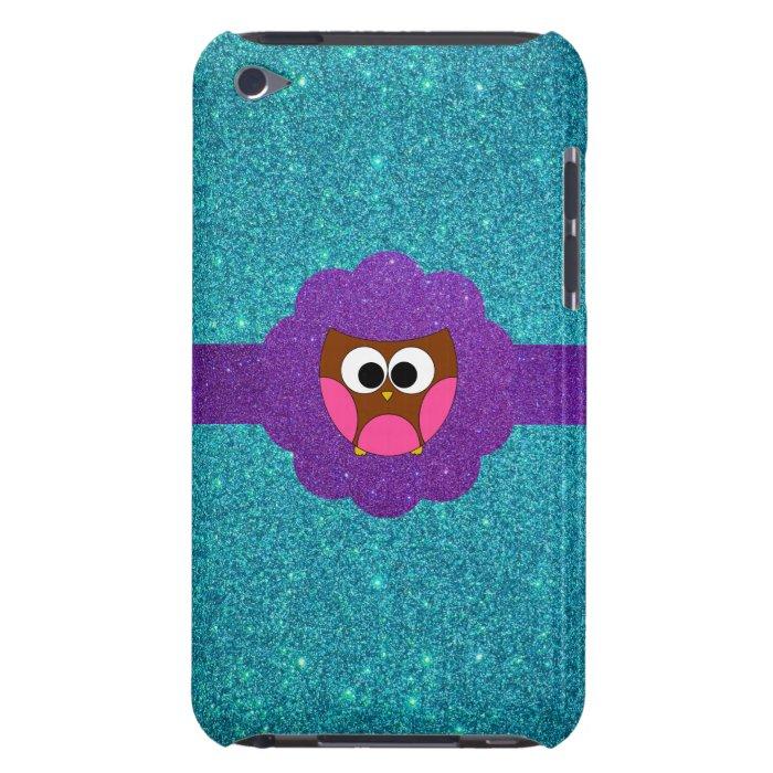 Cute Owl glitter iPod Touch Case-Mate Case