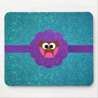 Cute Owl glitter Mousepad