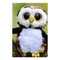 Cute Owl Glitter Stationery