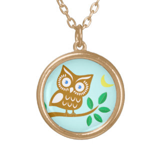 Cute Owl Gold Plated Necklace