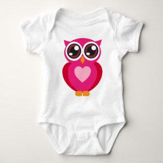 Cute owl heart t-shirt