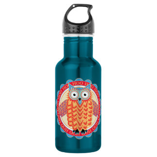 Cute Owl Hoo Hoo Bird Lover's Colorful Water Bottle