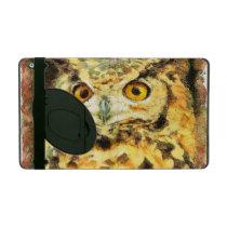 Cute Owl Illustration iPad Folio Case