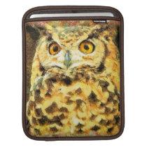 Cute Owl Illustration iPad Sleeve