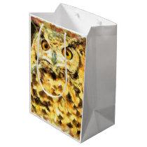 Cute Owl Illustration Medium Gift Bag