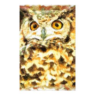 Cute Owl Illustration Stationery