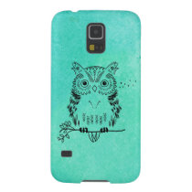 Cute Owl Illustration Watercolor Background Galaxy S5 Cover