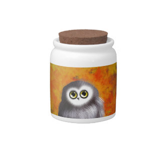 Cute Owl in a tree Candy Dishes