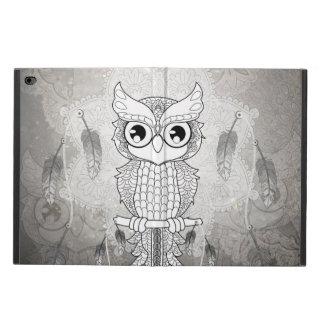 Cute owl in black and white, mandala design powis iPad air 2 case