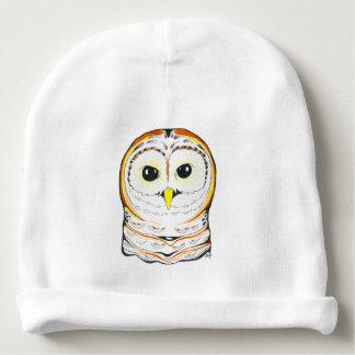 Cute Owl Ink Drawing Baby Beanie