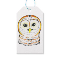 Cute Owl Ink Drawing Gift Tags