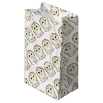 Cute Owl Ink Drawing Small Gift Bag