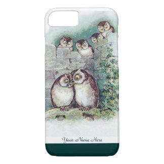 Cute Owl iPhone 7 case by Louis Wain