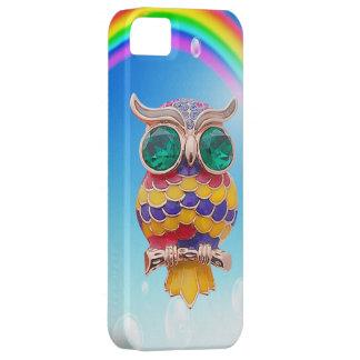 Cute Owl Jewel & Rainbow iPhone 5 Case