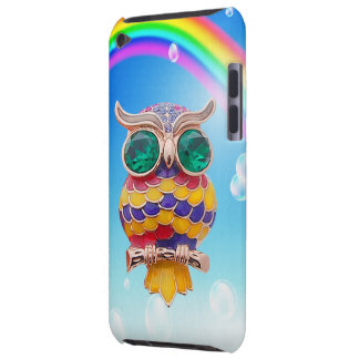 Cute Owl Jewel & Rainbow iPod Touch Case