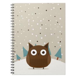 Cute owl journal