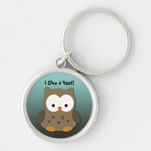 Cute Owl Keychain With Custom Text