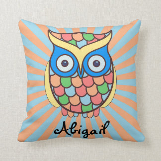 Cute Owl Kids Room Throw Pillow