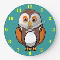 CUTE OWL - KIDS Wall Clock