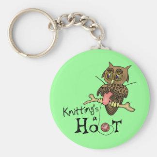 Cute Owl Knitting Keychain