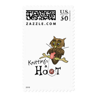 Cute Owl Knitting Stamps