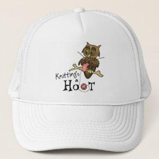 Cute Owl Knitting Trucker Hat