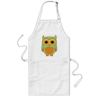 Cute Owl Long Apron
