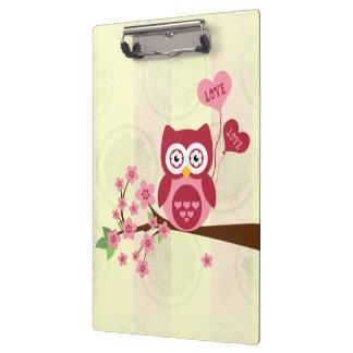 Cute Owl Love Clipboards