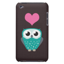 Cute Owl & Love Heart Barely There iPod Case