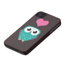 Cute Owl & Love Heart Case-Mate iPhone 4 Case