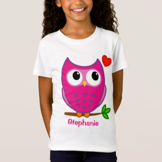 Cute Owl Love Personalized Girls T-shirts
