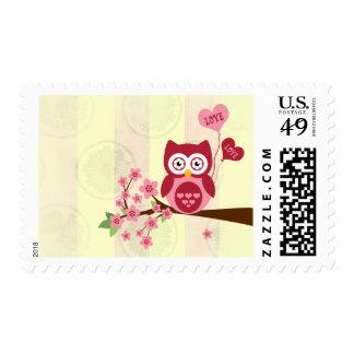 Cute Owl Love Postage