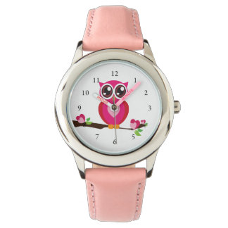 Cute Owl Love Wrist Watches