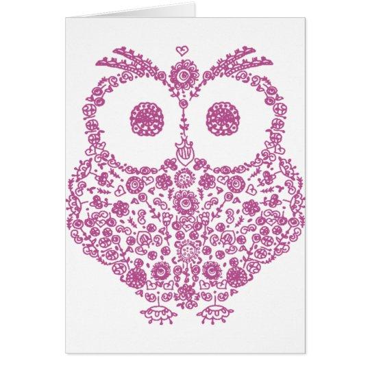 CUTE OWL LOVERS GIFT CARD