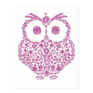 CUTE OWL LOVERS GIFT POSTCARD