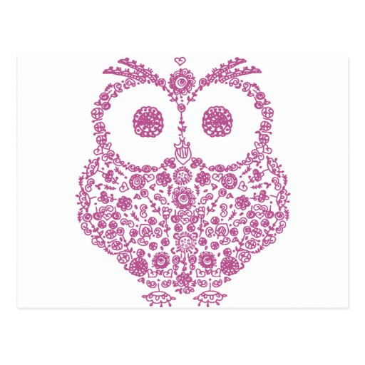 CUTE OWL LOVERS GIFT POSTCARDS