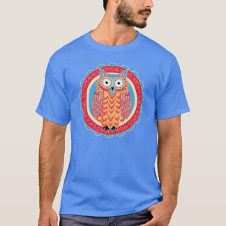 Cute Owl Lover's Night Owl Bright Colors T-Shirt