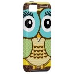 Cute Owl Moorish Zig Zag Pattern Choose Your Color iPhone 5 Cases