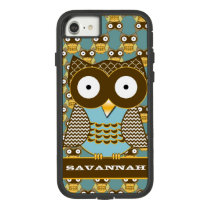 Cute Owl Moorish Zig Zag Pattern Choose Your Color Case-Mate Tough Extreme iPhone 7 Case