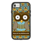 Cute Owl Moorish Zig Zag Pattern Choose Your Color Case-Mate Tough Extreme iPhone 8/7 Case