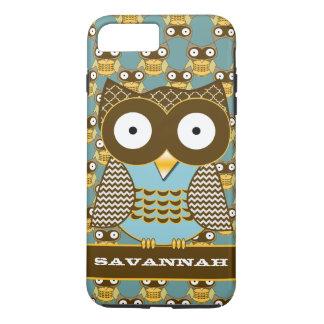 Cute Owl Moorish Zig Zag Pattern Choose Your Color iPhone 7 Plus Case