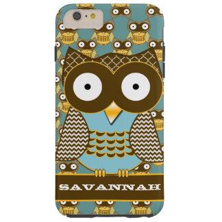 Cute Owl Moorish Zig Zag Pattern Choose Your Color Tough iPhone 6 Plus Case
